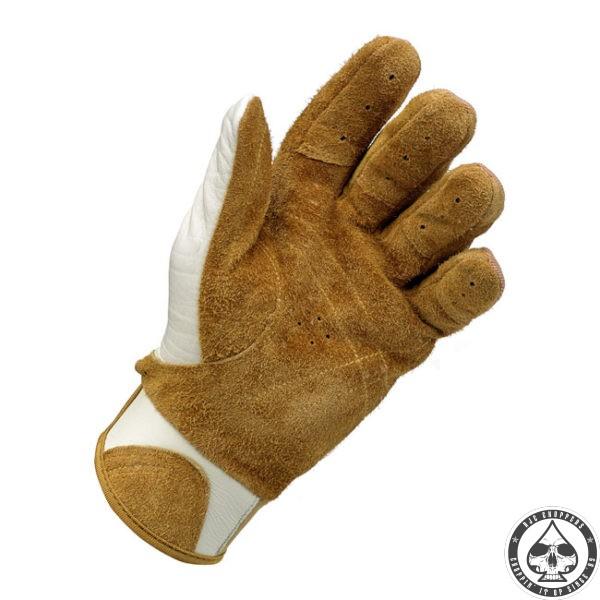 Biltwell Bantam Gloves, White/Tan