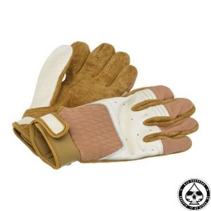 Biltwell Bantam Gloves, White/Tan