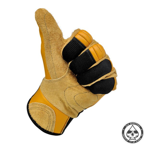 Biltwell Bantam Gloves, Tan/Black