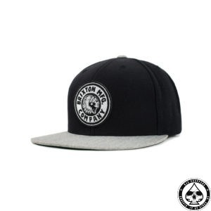 Brixton Rival snap back cap black/heather grey