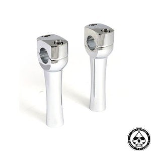 Dighton Domed Risers, Chrome, 5""