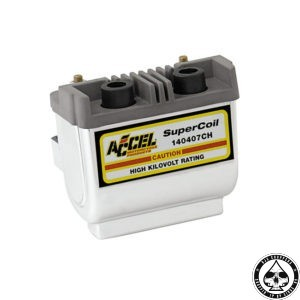 Accel HEI Super coil 2.3 Ohm,Chrome ( Electronic ignition )