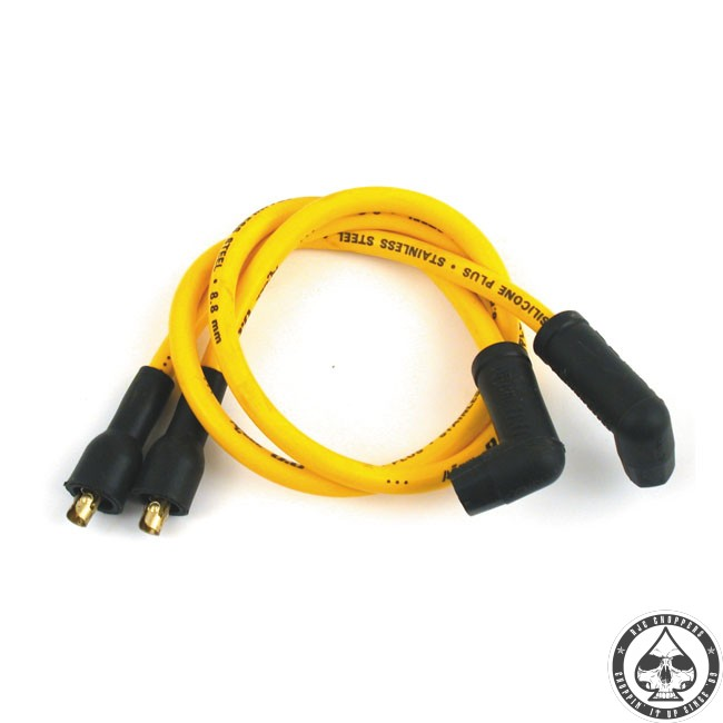 Accel 8.8mm Spark plug wire, Copper core, Yellow 58-69 Xl on