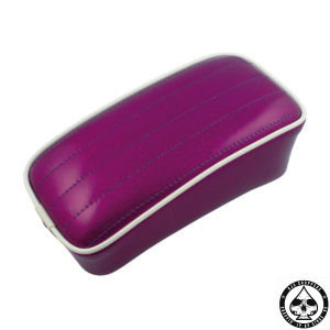 Le Pera Metal flake color Pillions, P-pad, Plum Purple