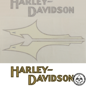 Tank decals Harley-Davidson, 1933 style, Silver