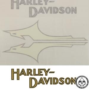 Tank decals Harley-Davidson, 1933 style, Silver