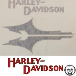 Tank decals Harley-Davidson, 1933 style, Black