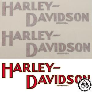 Tank decals Harley-Davidson, 1908 - 1932 style