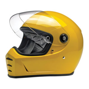 Biltwell Lane Splitter Helmet - Gloss Safe-T yellow - ECE