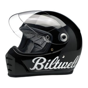 Biltwell Lane Splitter Helmet - Gloss Black Factory - ECE