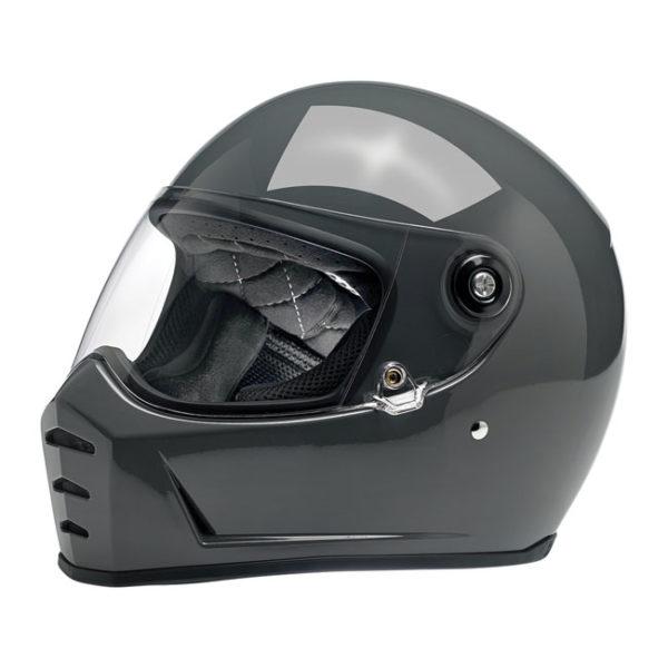 Biltwell Lane Splitter Helmet - Gloss storm grey - ECE
