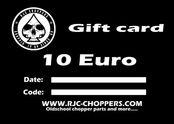 RJC-Choppers Gift card 10 Euro