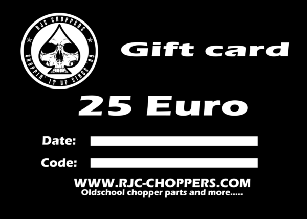 RJC-Choppers Gift card 25 Euro