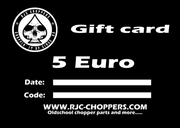 RJC-Choppers Gift card 5 Euro