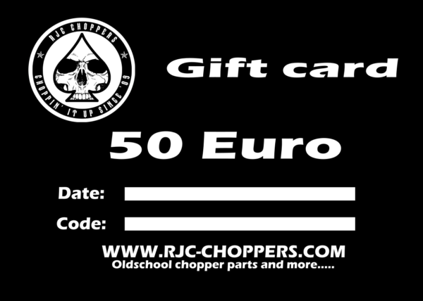 RJC-Choppers Gift card 50 Euro