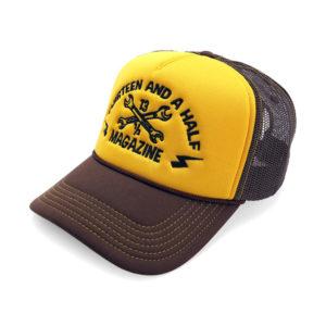 13-1/2 Trucker 5-Panel mesh cap (Brown/Gold)