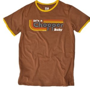 13 1/2 Magazine, It's a Chopper Baby T-shirt, Ringer Brown