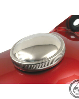 Gas cap, 83-95, Stainless ( right side, vented )
