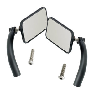Biltwell Utility Mirror set, Square, Black