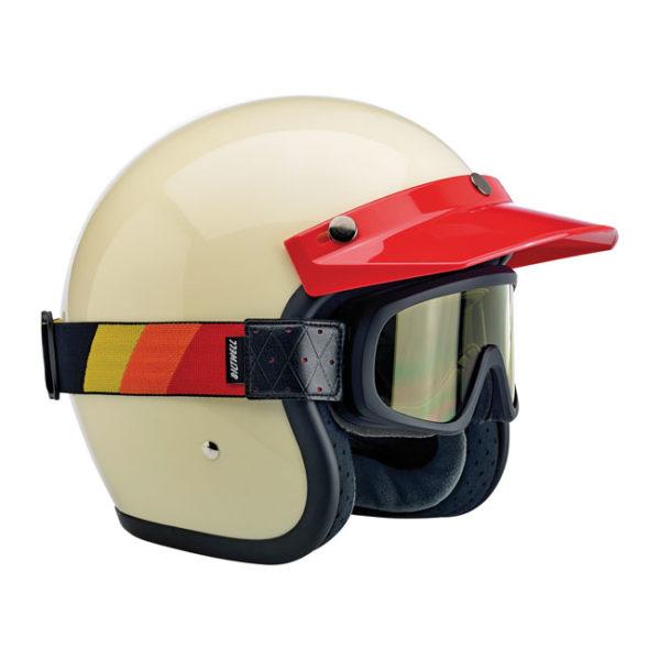 Biltwell Overland 2.0, Tri Stripe goggles