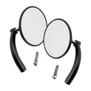 Biltwell Utility Mirror set, Round, Black