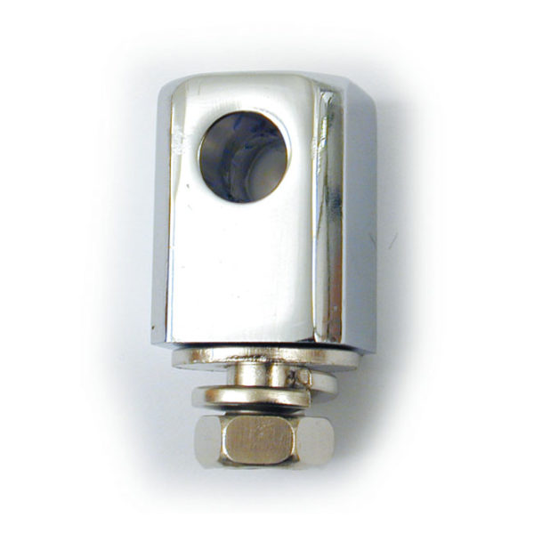 Universal headlight mounting block, Chrome